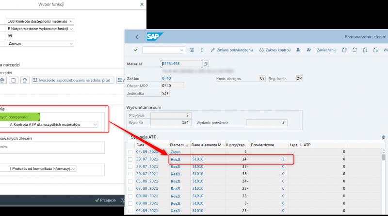 SAP ERP – kontrola dostępności materiałów ATP, część 2